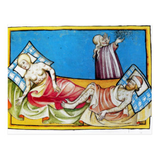The Black Death from the Toggenburg Bible 1411 Postcard