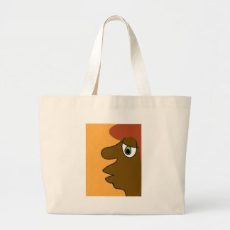 the black dude large tote bag