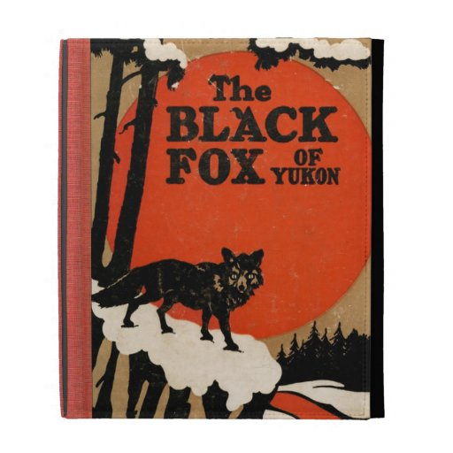 The Black Fox of Yukon Vintage Book Cover Style iPad Cases