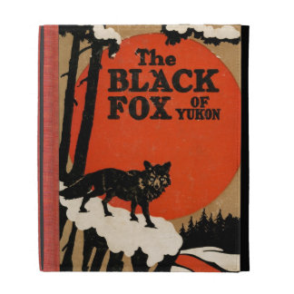 The Black Fox of Yukon Vintage Book Cover Style iPad Case