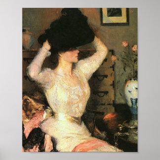 The Black Hat by Frank Weston Benson Fine Arts Poster