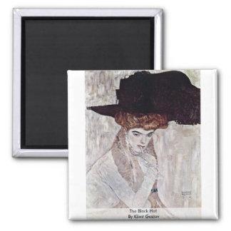 The Black Hat By Klimt Gustav Magnet