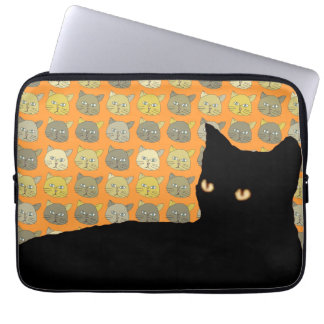 the black meow laptop sleeve