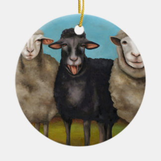 The Black Sheep Ceramic Ornament