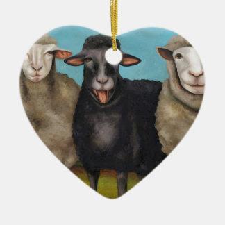 The Black Sheep Ceramic Ornament