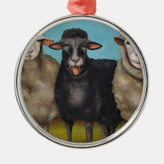 The Black Sheep Metal Ornament