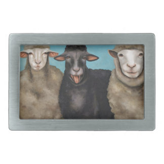 The Black Sheep Rectangular Belt Buckles