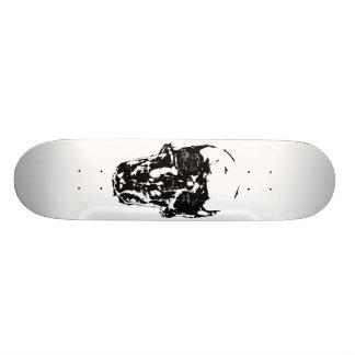 The black Skull Skateboard Deck