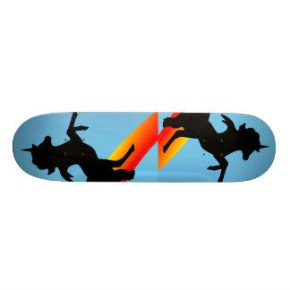 """ The Black Unicorns "" Custom Skate Board"