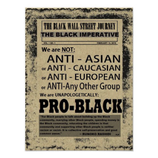 THE BLACK WALL STREET JOURNAL POSTER