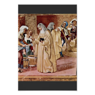 The Blessing Of St. Clare By Lotto Lorenzo (Best Q Poster
