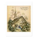 The Blessings of Christmas Nativity Scene Postcard