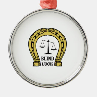 the blind luck Silver-Colored round ornament