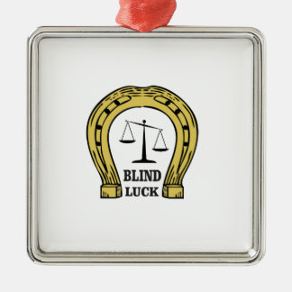 the blind luck Silver-Colored square ornament