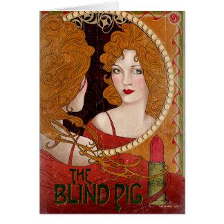 The Blind Pig Vintage Artwork Card