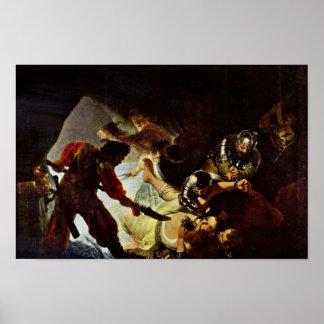 The Blinding Of Samson By Rembrandt Harmensz. Van Poster
