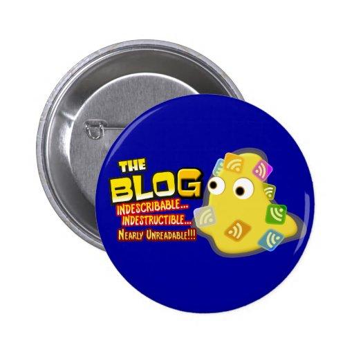 The Blog Blob Social Design Pinback Button