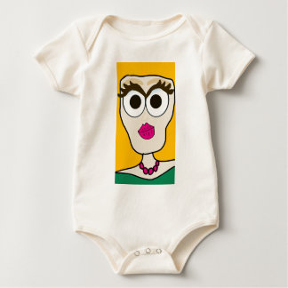 the blonde doll face baby bodysuit