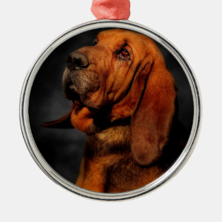 The Bloodhound Metal Ornament