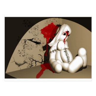 The Bloody bunny Postcard