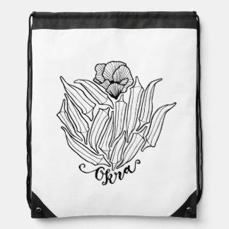 The Bloom of Okra Drawstring Bag
