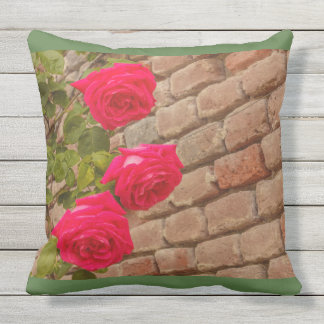 THE BLOSSOMING OF TULIPS  IN A PARK  THROW PILLOW