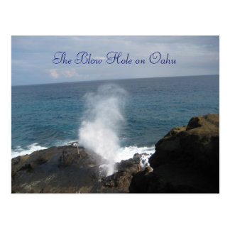The Blow Hole on Oahu postcard