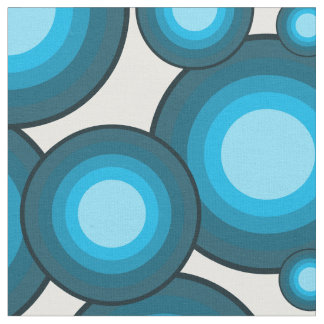 The Blue 70's year styling circle Fabric