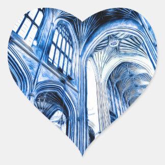The Blue Abbey Heart Sticker