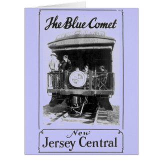 The Blue Comet Train Large Greeting Card