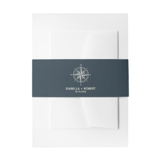 The Blue Compass | Wedding Invitation Invitation Belly Band