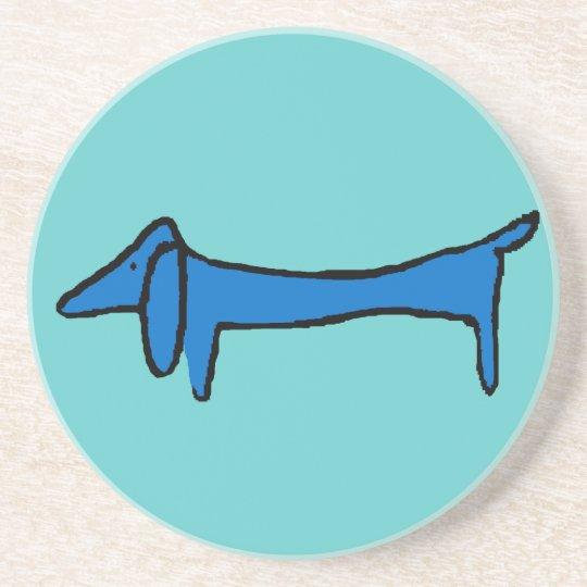 The Blue Dachshund Dog Coaster