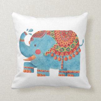 The Blue Elephant Throw Pillow