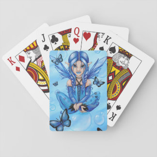 """""""The Blue Fairy"""" classic playing cards"""