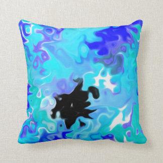 The Blue Forgot:  Modern Art Throw Pillow