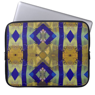 the blue green cool shapes sleeve laptop computer sleeve