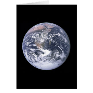 """The Blue Marble"" Earth seem from Apollo 17 Card"