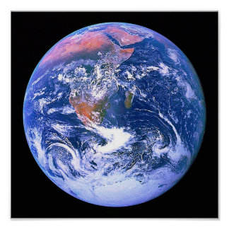 """""""The Blue Marble"""" Poster"""