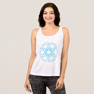 The Blue Mixed Figures Tank Top
