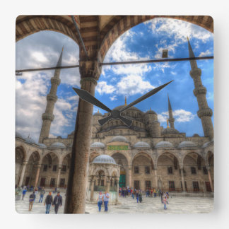 The Blue Mosque Istanbul Square Wall Clock