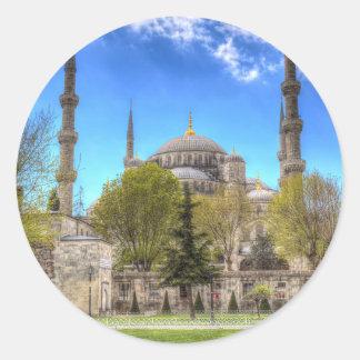The Blue Mosque Istanbul Turkey Classic Round Sticker
