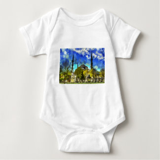 The Blue Mosque Istanbul Van Gogh Baby Bodysuit