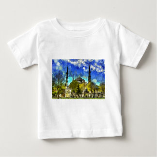 The Blue Mosque Istanbul Van Gogh Baby T-Shirt