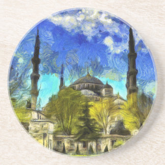 The Blue Mosque Istanbul Van Gogh Coaster
