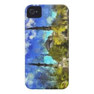 The Blue Mosque Istanbul Van Gogh iPhone 4 Case-Mate Cases