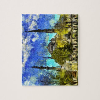 The Blue Mosque Istanbul Van Gogh Jigsaw Puzzle