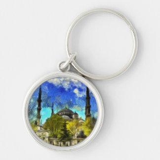The Blue Mosque Istanbul Van Gogh Keychain