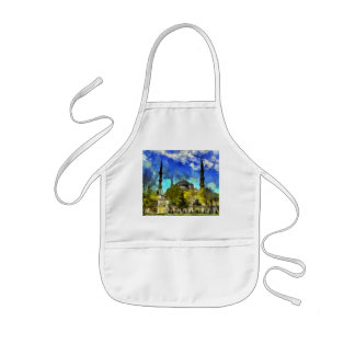 The Blue Mosque Istanbul Van Gogh Kids Apron