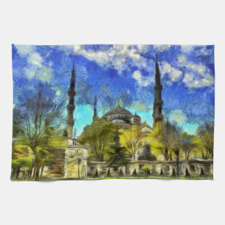 The Blue Mosque Istanbul Van Gogh Kitchen Towel