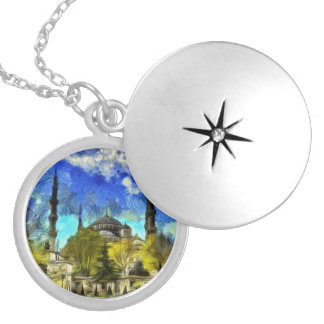 The Blue Mosque Istanbul Van Gogh Locket Necklace